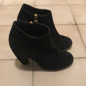 Steve Madden suede ankle booties with side zipper
